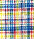 Tutti Fruitti Ahoy Embellished Fabric 44\u0027\u0027-Yellow, Red & Blue Plaid