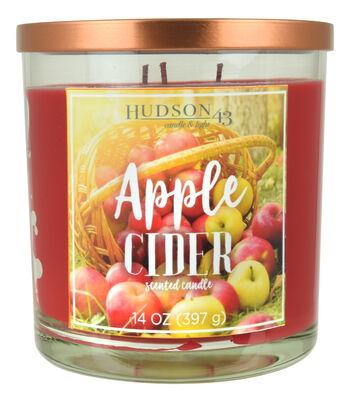 Hudson 43 Candle and Light Collection 14oz Jar Candle-Apple Cider