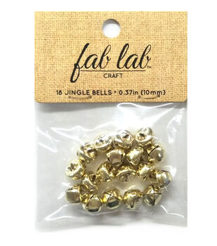 Jingle Bell Gold 3/8in