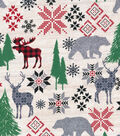Christmas Cotton Fabric 43\u0022-Holiday Moose
