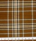 Plaiditudes Brushed Cotton Fabric 44\u0022-Mini Oatmeal Cream
