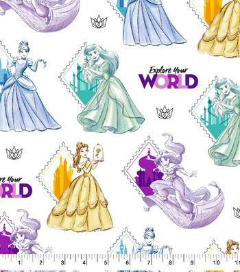 "Disney Princesses Cotton Fabric 43""-Explore Your World Cotton"