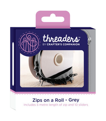 Threaders Zips on a Roll-Grey