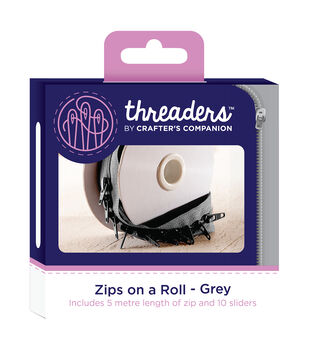 Threaders Zips on a Roll-Grey