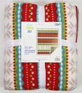 No Sew Fleece Throw 72\u0022-Glander Trailways Peppermint 2