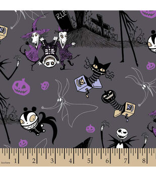 Halloween Cotton Fabric-Nightmare Before Christmas Jack