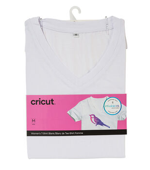 Cricut Infusible Ink Women's V-Neck T-Shirt-White