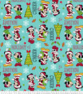 Disney Mickey & Minnie Christmas Fleece Fabric-Candy