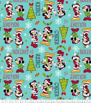 Disney Mickey & Minnie Christmas Fleece Fabric-Candy, , hi-res