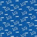 Detroit Lions Cotton Fabric -Mini Print