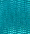 Snuggle Flannel Fabric-Blue Dots on Teal