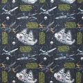 Star Wars Fleece Fabric 58\u0022-Ships Black