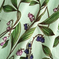 Double Brushed Poly Printed Knit Fabric-Blue Bells on Aqua
