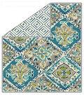 No-Sew Throw Fleece Fabric 72\u0022-Adeleta Diminish Opal