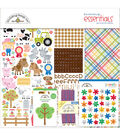 Doodlebug Down on the Farm 12\u0027\u0027x12\u0027\u0027 Essentials Page Kit