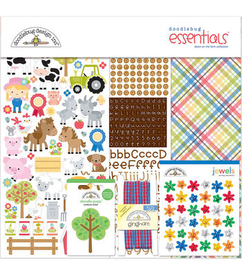 Doodlebug Down on the Farm 12''x12'' Essentials Page Kit