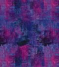 Modern Cotton Fabric -Dark Blue & Magenta Crosshatch