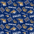 Montana State Bobcats Fleece Fabric-College Patch