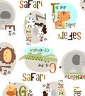 Snuggle Flannel Fabric -Alphabet Zoo Animals
