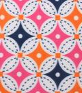 Blizzard Fleece Fabric 59\u0022-Bright Circle Geo