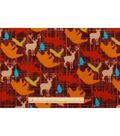 Anti-Pill Fleece Fabric 59\u0022-Bear Lodge Tossed