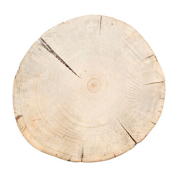 Save the Date 12''x2'' Wood Cake Stand