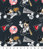 New York Yankees Cotton Fabric-Mickey, , hi-res