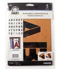 FolkArt 17 pk 5\u0027\u0027 Alphabet & Monogram Paper Stencils-Bold Font