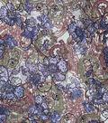 Silky Prints Stretch Chiffon Fabric 57\u0027\u0027-Paisley & Floral