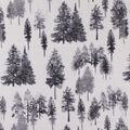Anti-Pill Plush Fleece Fabric-Winter Forest Gray