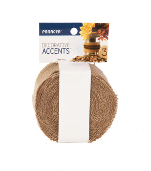 Panacea Products-Burlap Garland 2 in x 30 ft