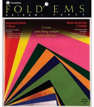 Fold 'Ems Origami Paper-55PK
