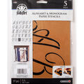 FolkArt 17 pk 5\u0027\u0027 Alphabet & Monogram Paper Stencils-Script Font