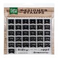 Echo Park Paper Company 36 pk Photopolymer Designer Stamps-Calendar Days
