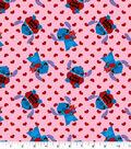 Disney Stitch Cotton Fabric-Valentine