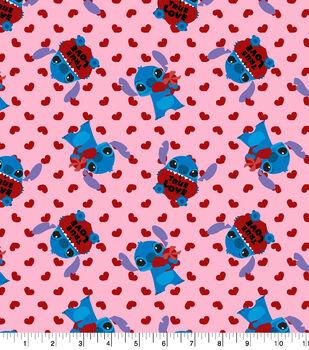 Disney Valentine's Day Stitch Cotton Fabric-True Love