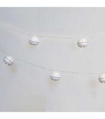 Maker's Holiday 20ct LED Bells-White
