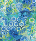 P/K Lifestyles Upholstery Fabric 54\u0022-Windflower/Sapphire