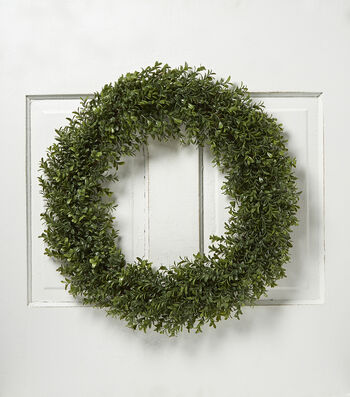 Bloom Room 24'' Soft Touch Boxwood Wreath-Green
