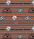Oklahoma State Cowboys Fleece Fabric -Polo Stripe