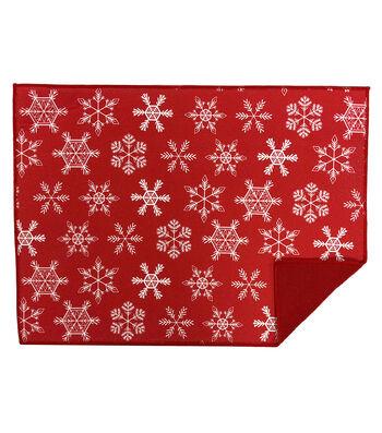 Maker's Holiday Christmas 15''x21'' Drying Mat-Snowflake Toss