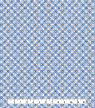 Keepsake Calico Cotton Fabric-Tiny Gingham Star Blue