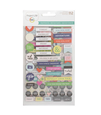 Project Life Snapshots Edition Nicole Seitter 112 pk Stickers-Words