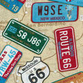 Novelty Cotton Fabric-License Plates