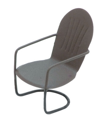 Timeless Miniatures-Painted Metal Rustic Arm Chair