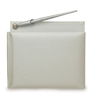 Wilton Traditional Guest Book & Pen-White