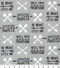 Nursery Cotton Fabric-Boone Arrows And Words
