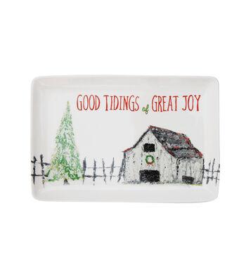 3R Studios Christmas Serving Plate-Good Tidings of Great Joy