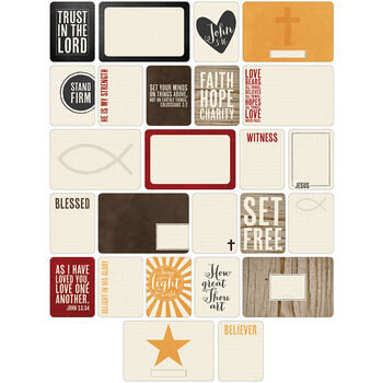 Project Life Themed Cards 60/Pkg-Christian