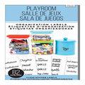 Me & My Big Ideas 82 pk Clear Sticker Labels-Playroom